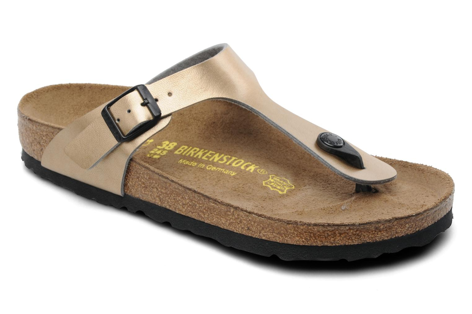 birkenstock gizeh flor w flip flops in bronze and gold at. Black Bedroom Furniture Sets. Home Design Ideas