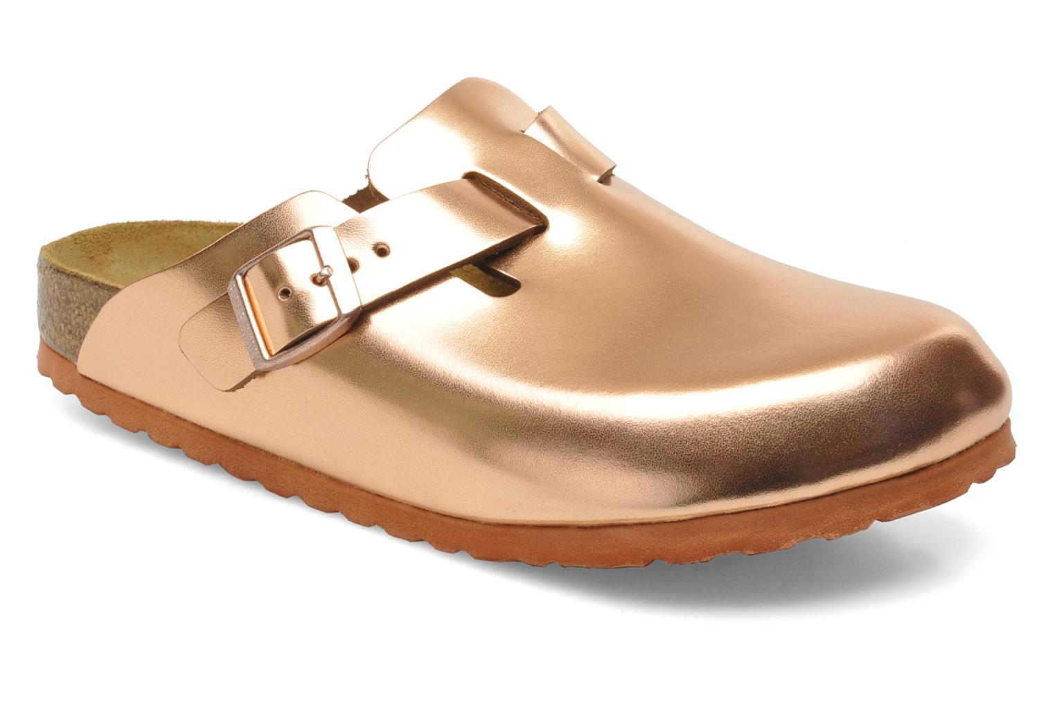 birkenstock boston cuir w mules clogs in bronze and gold. Black Bedroom Furniture Sets. Home Design Ideas