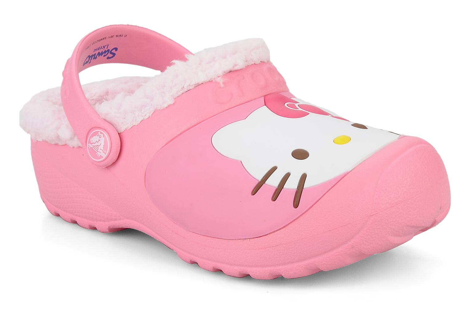 Crocs Hello kitty lined custom clog Sandals in Pink at Sarenza co uk (65176)