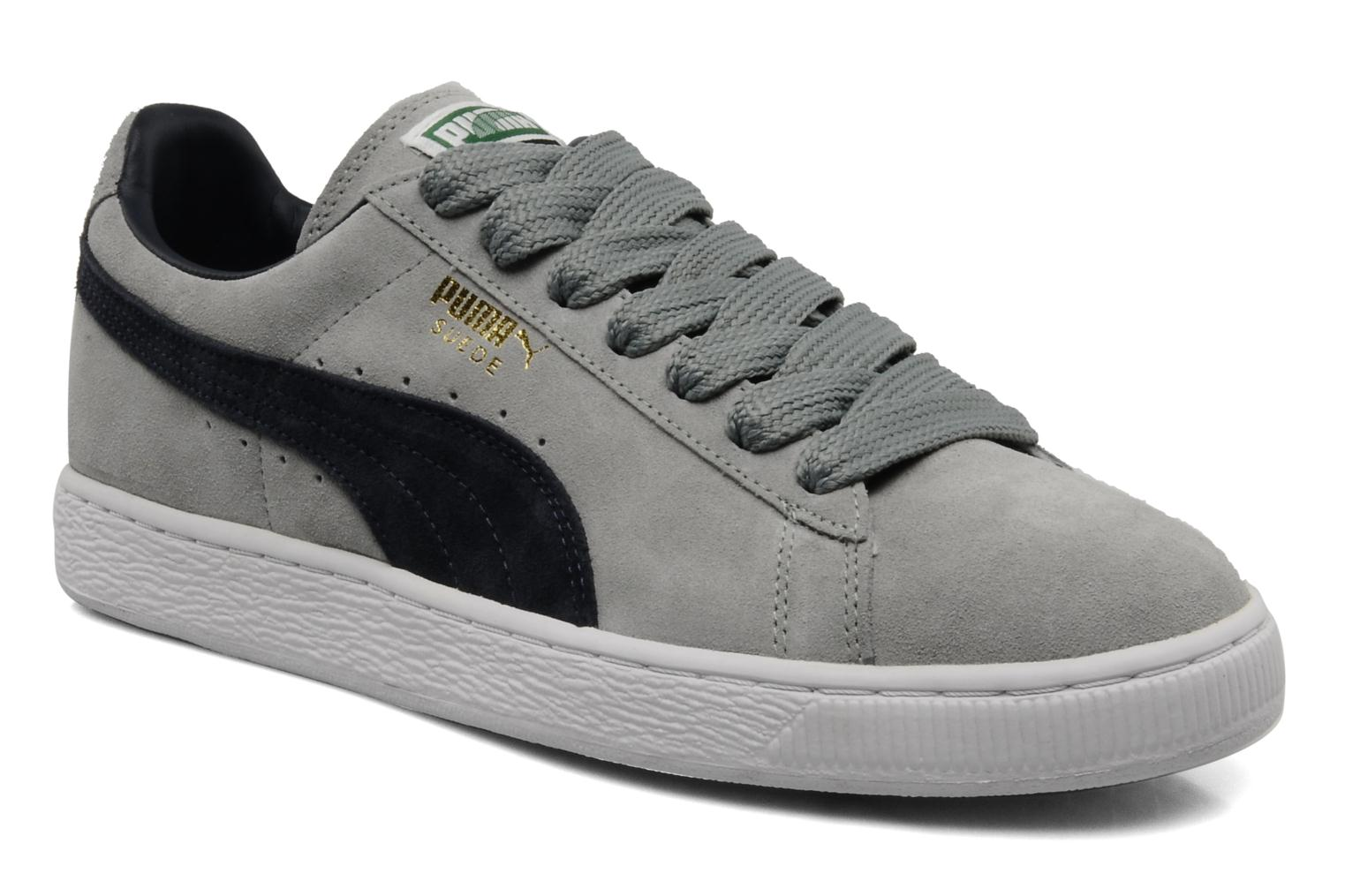 puma suede classic trainers in grey at 85414. Black Bedroom Furniture Sets. Home Design Ideas