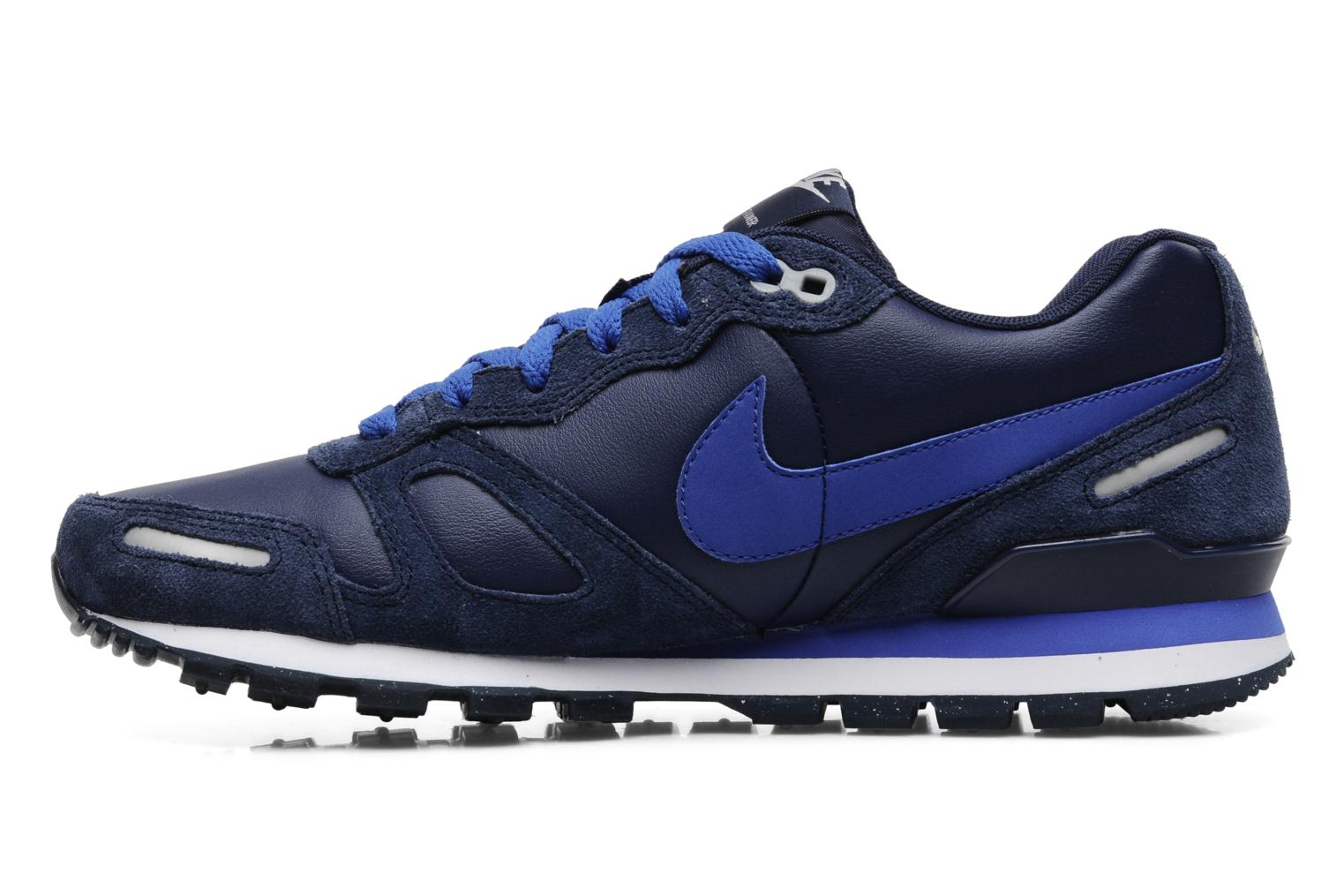 nike air waffle trainer leather trainers in blue at 151643. Black Bedroom Furniture Sets. Home Design Ideas