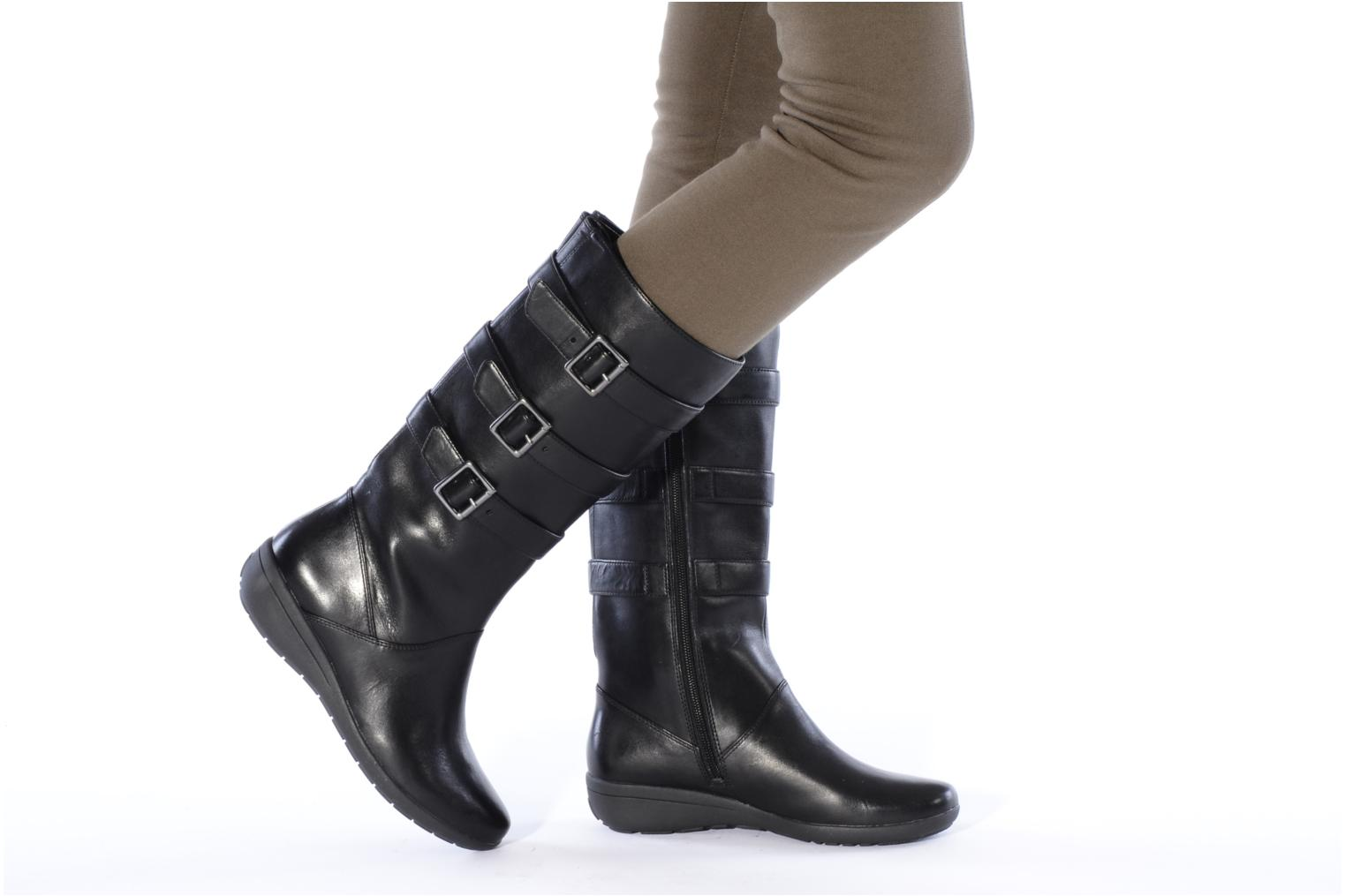 clarks mazy fresco boots wellies in black at