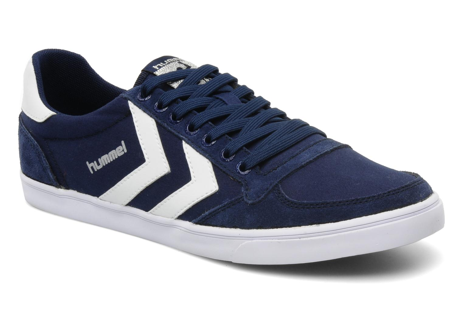 hummel slimmer stadil low canvas trainers in blue at 109748