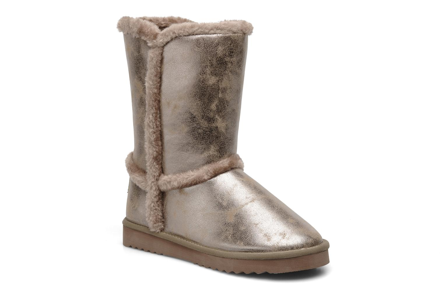 esprit uma metallic fur bootie ankle boots in bronze and. Black Bedroom Furniture Sets. Home Design Ideas