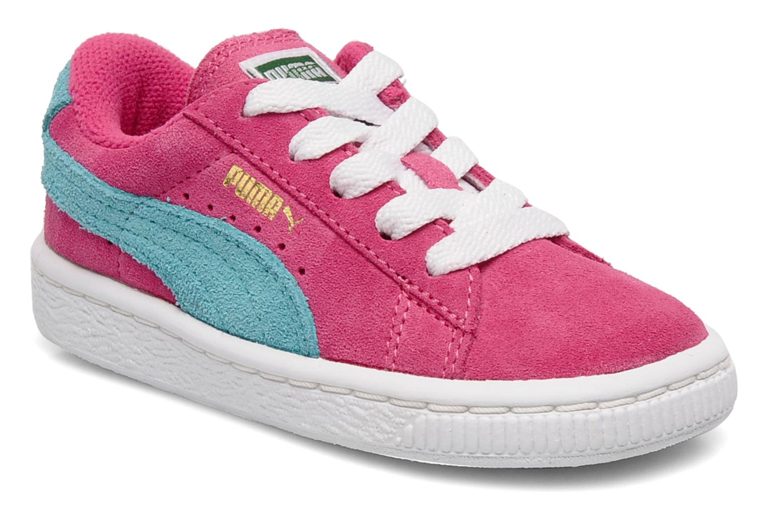 puma suede kids trainers in pink at 117389. Black Bedroom Furniture Sets. Home Design Ideas