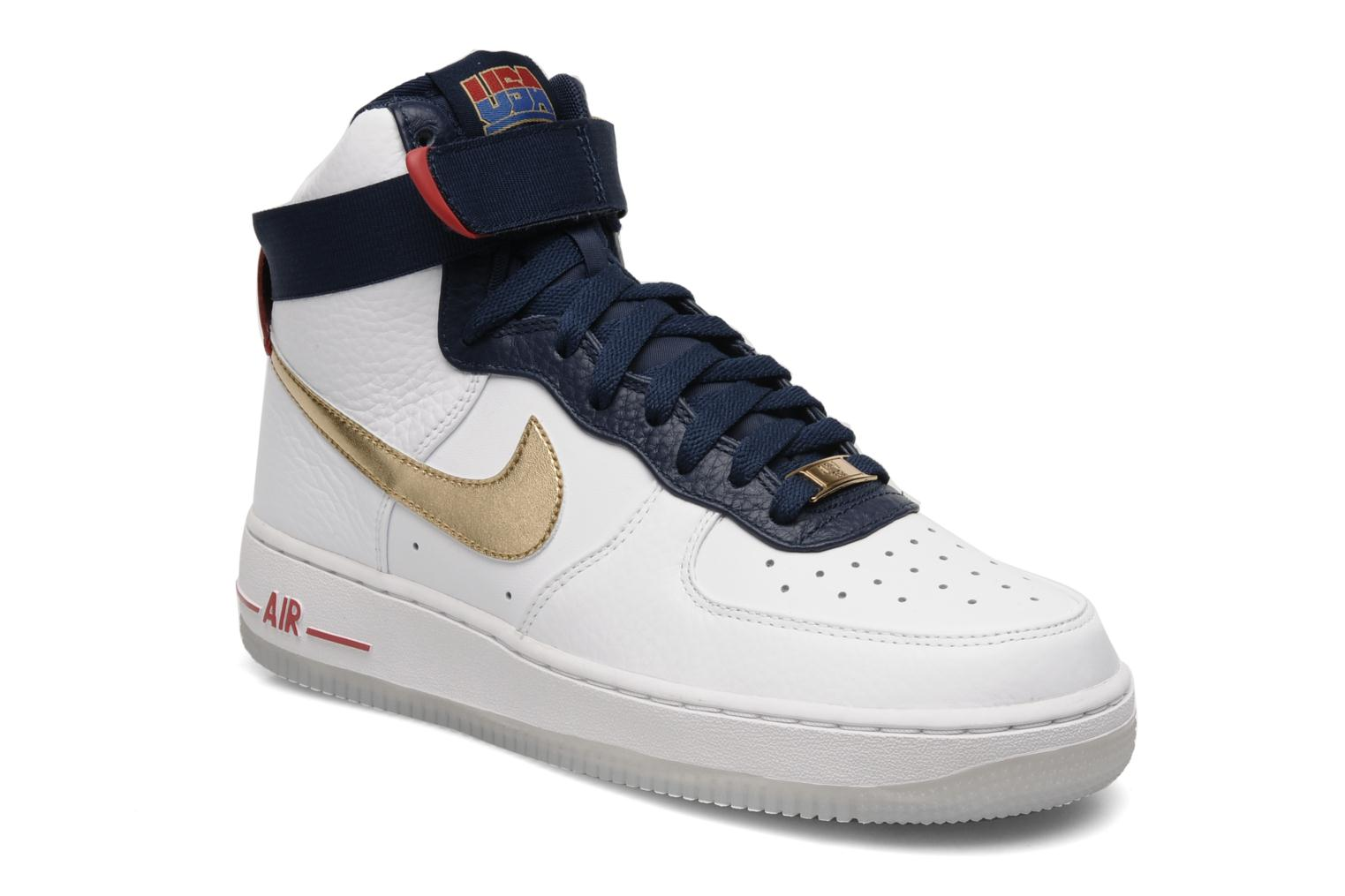 nike air force 1 high 39 07 usa trainers in white at sarenza. Black Bedroom Furniture Sets. Home Design Ideas