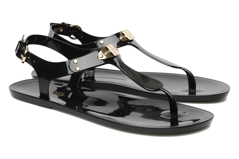 michael michael kors mk plate jelly sandals in black at. Black Bedroom Furniture Sets. Home Design Ideas