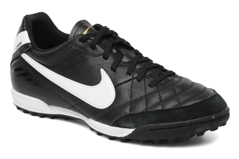 nike tiempo natural iv ltr tf sport shoes in black at. Black Bedroom Furniture Sets. Home Design Ideas