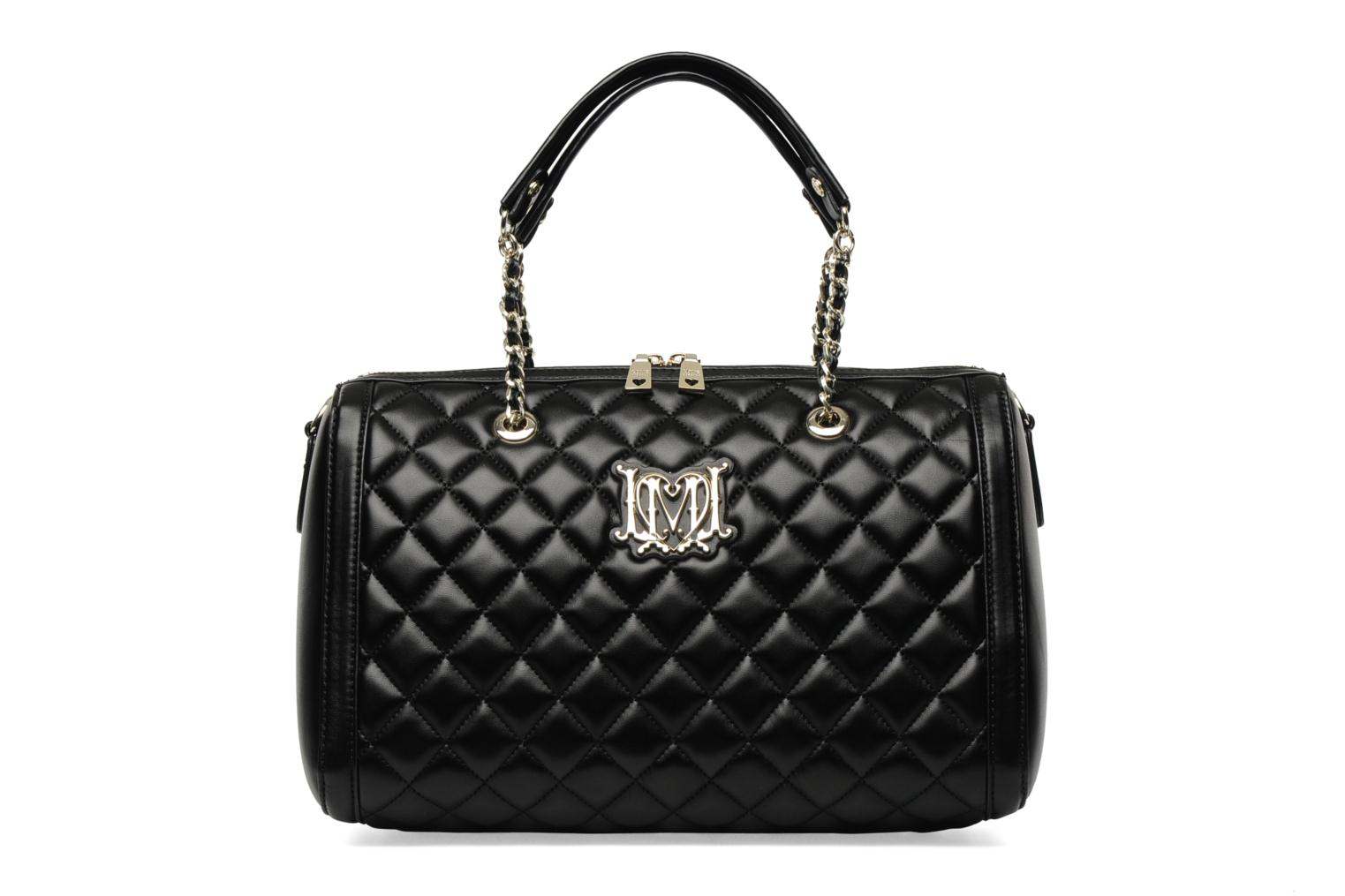 love moschino super quilted cha nette bowling handbags in black at 135971. Black Bedroom Furniture Sets. Home Design Ideas