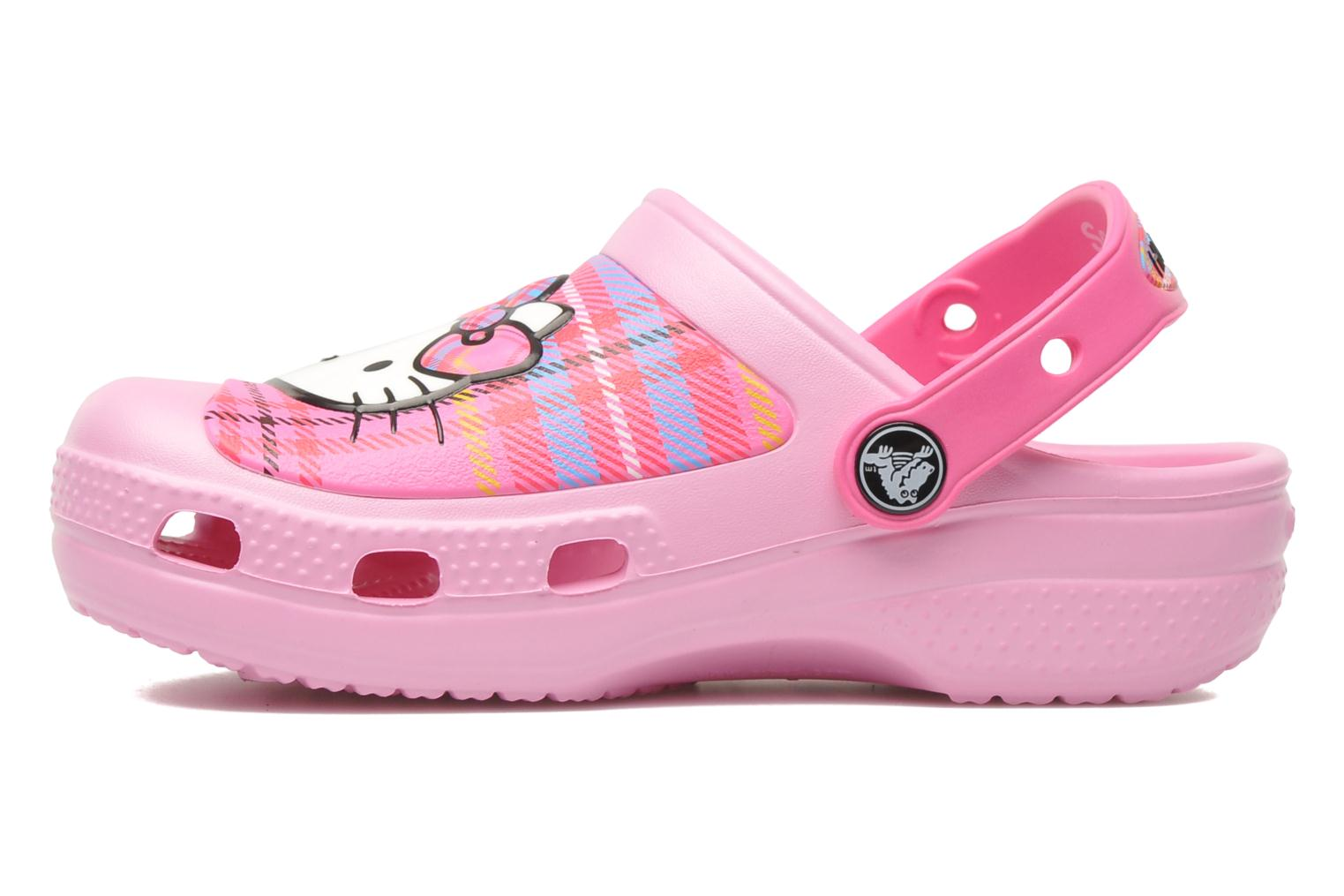 Crocs Creative Crocs Hello Kitty Plaid Clog Sandals in Pink at Sarenza co uk