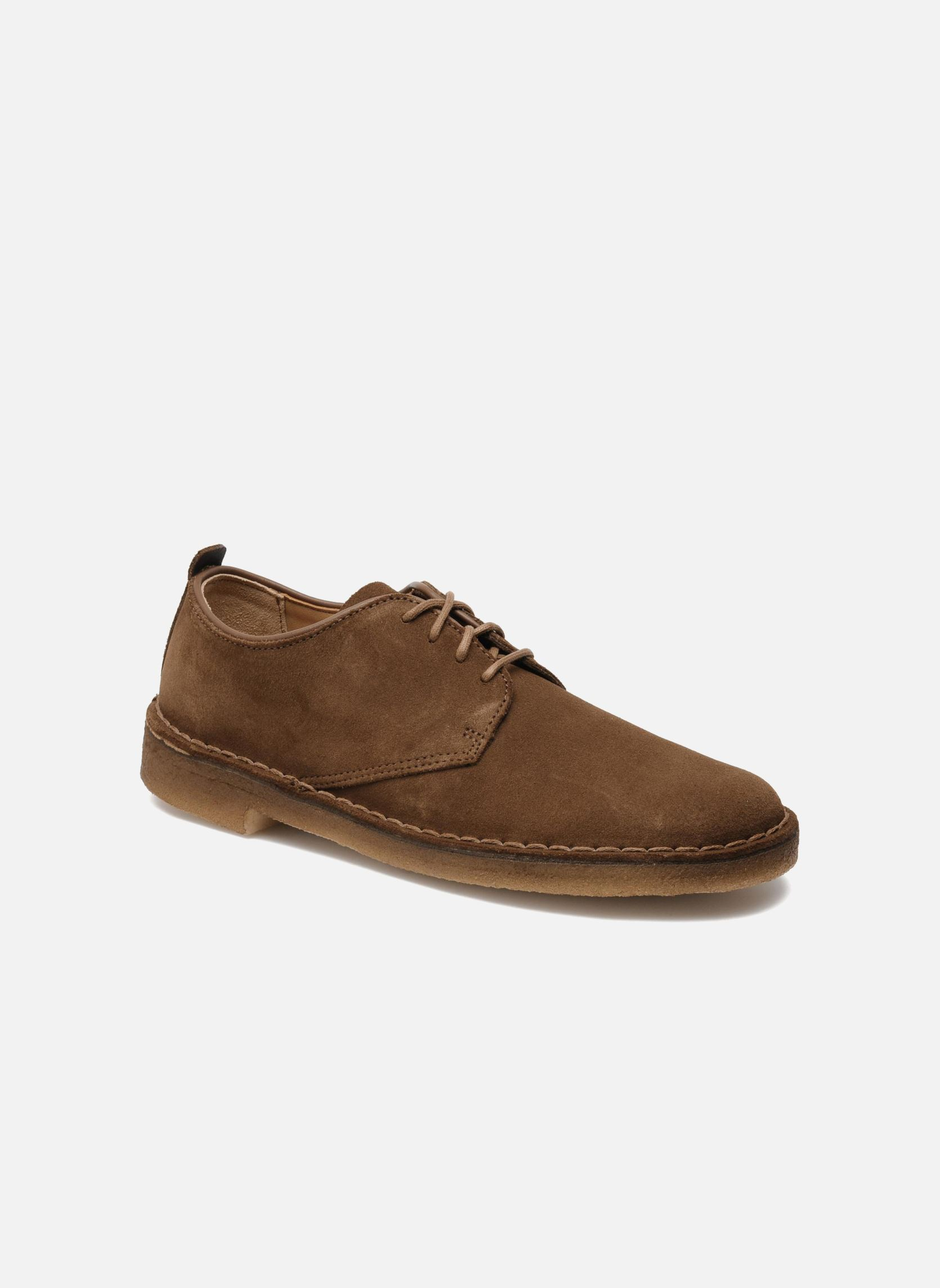 Clarks Originals Desert London Lace Up Shoes In Brown At