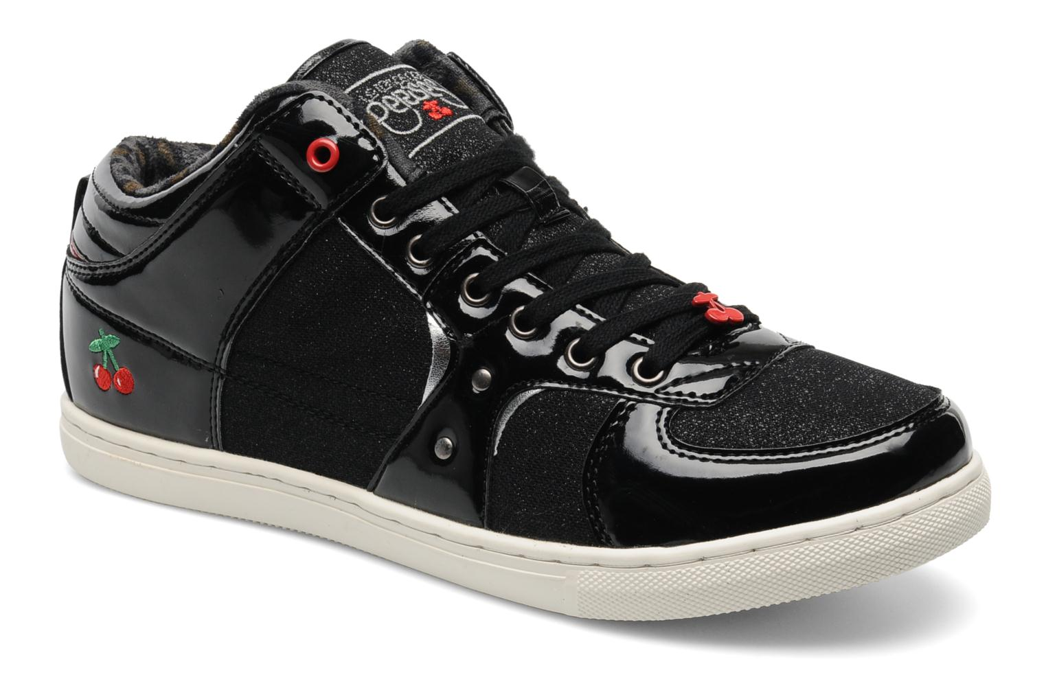 le temps des cerises new clery trainers in black at 159198