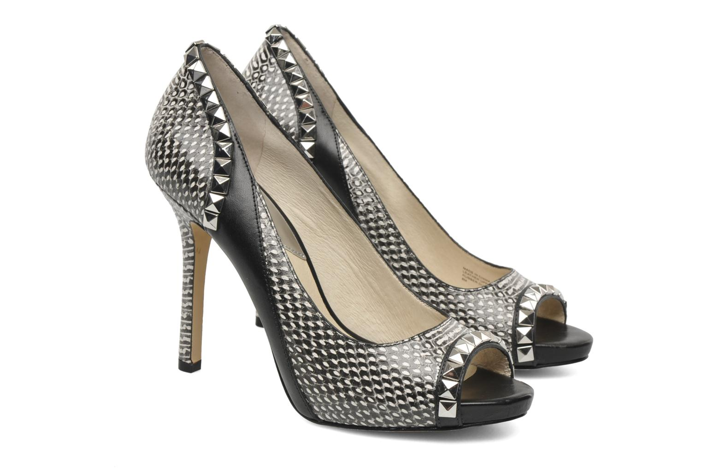 michael michael kors ella peep high heels in black at. Black Bedroom Furniture Sets. Home Design Ideas
