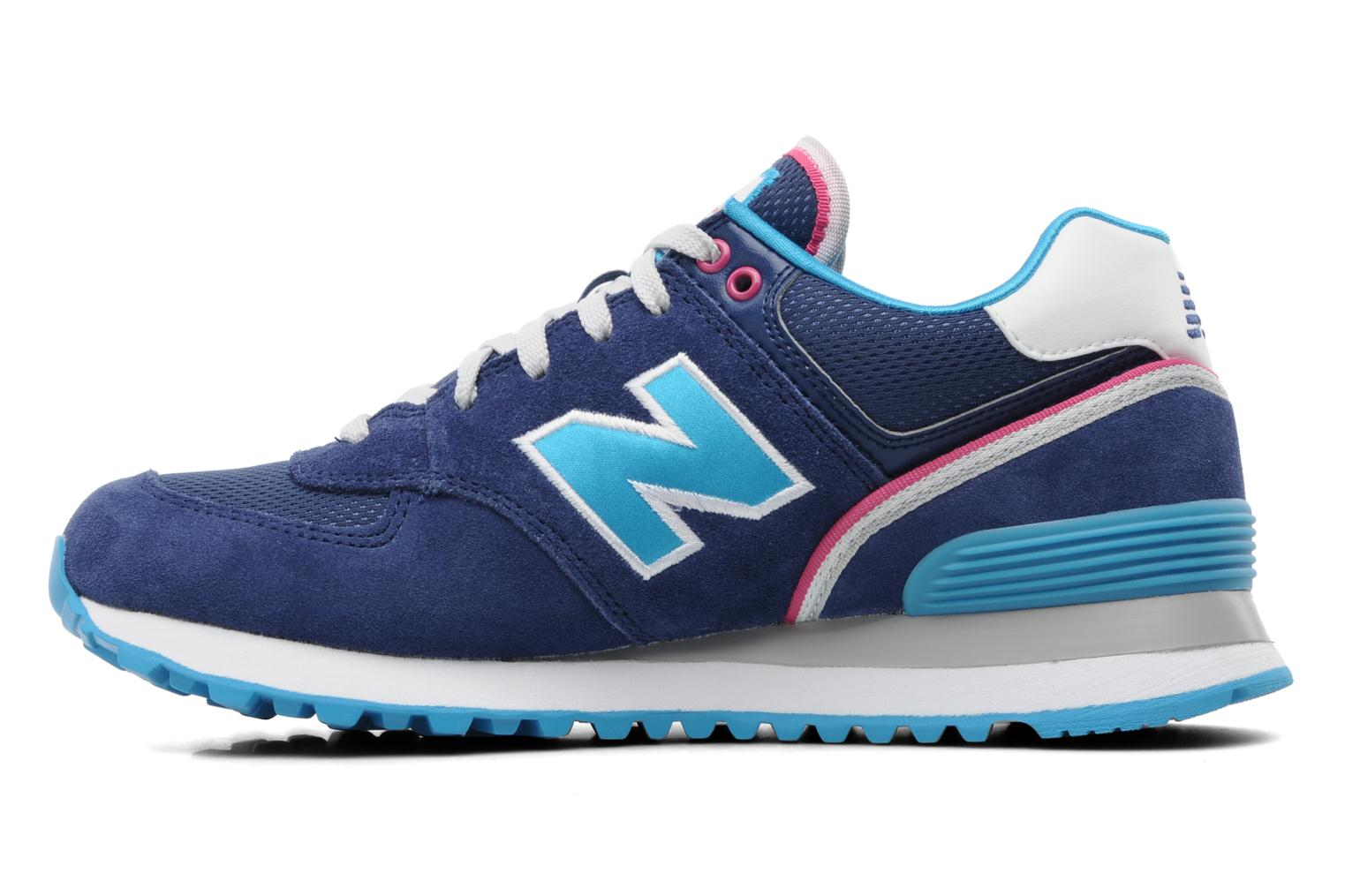 new balance wl574 trainers in blue at 188265. Black Bedroom Furniture Sets. Home Design Ideas