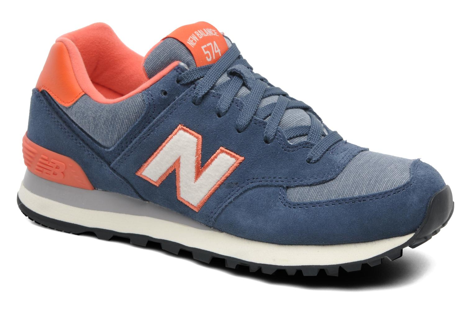 new balance wl574 trainers in blue at 201495. Black Bedroom Furniture Sets. Home Design Ideas