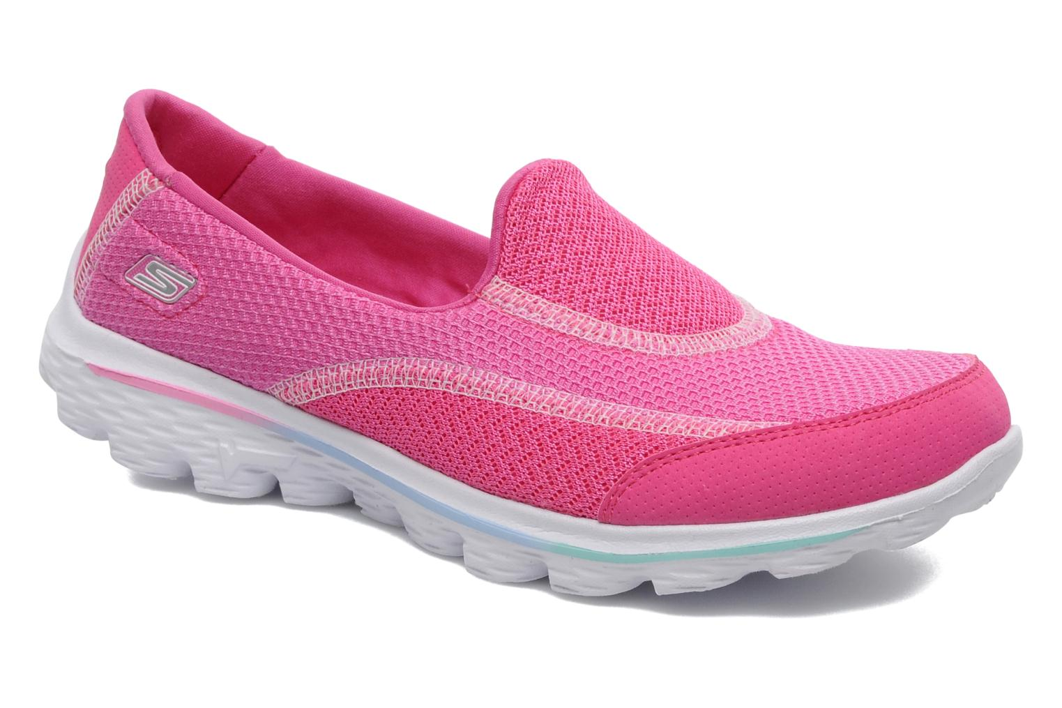 skechers go walk 4 trainers in pink at 184132. Black Bedroom Furniture Sets. Home Design Ideas