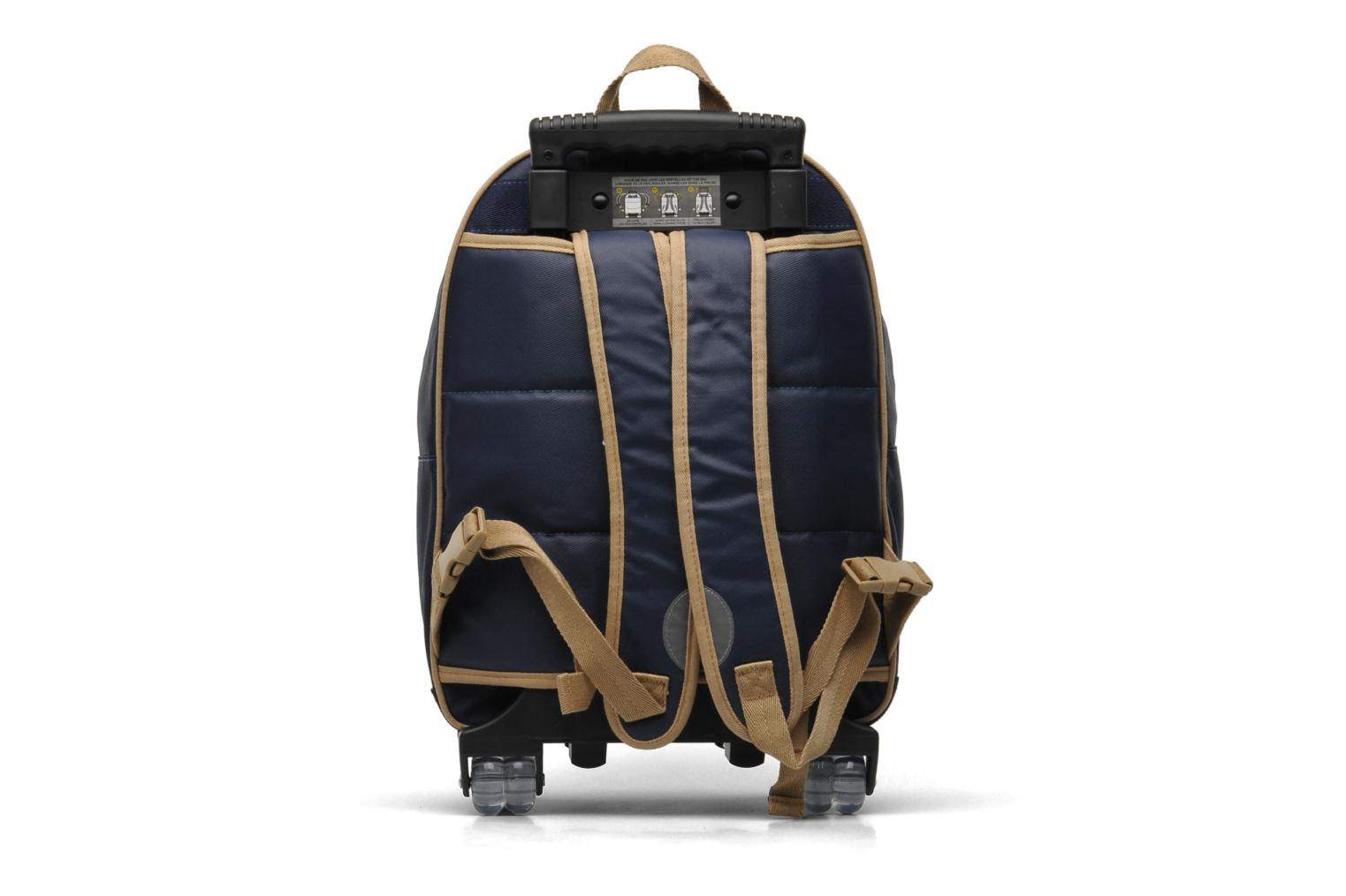 ikks trolley sacs dos l navy school bags in blue at 187272. Black Bedroom Furniture Sets. Home Design Ideas