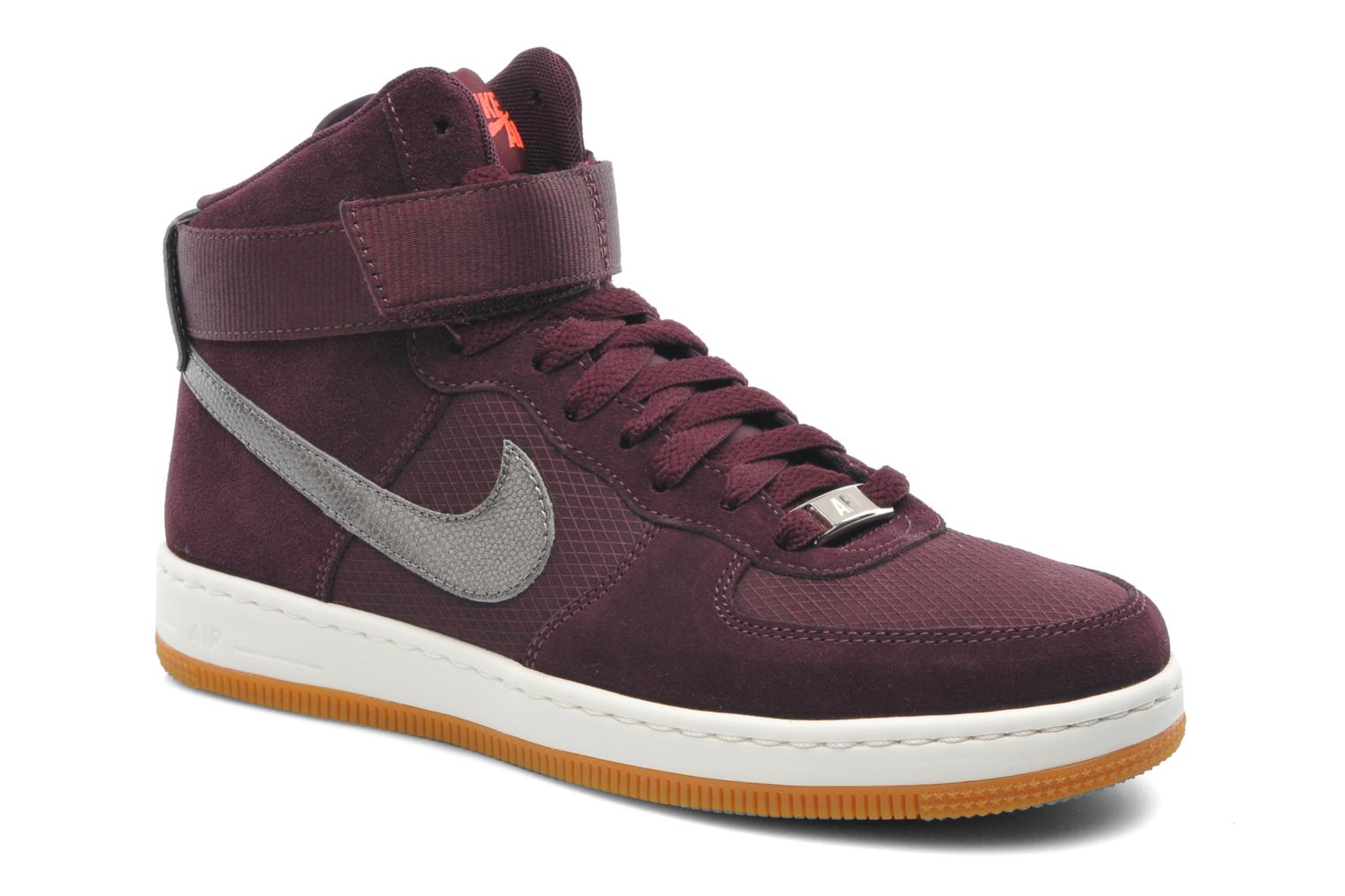 nike w nike air force 1 ultra force mid trainers in burgundy at 207447. Black Bedroom Furniture Sets. Home Design Ideas