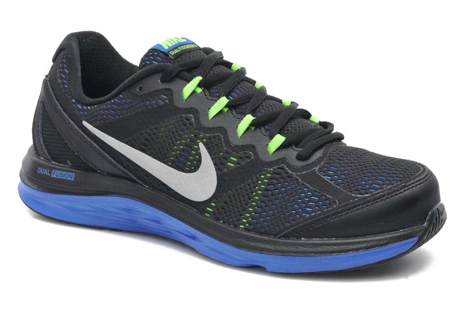 nike nike dual fusion run 3 sport shoes in black at 199131. Black Bedroom Furniture Sets. Home Design Ideas