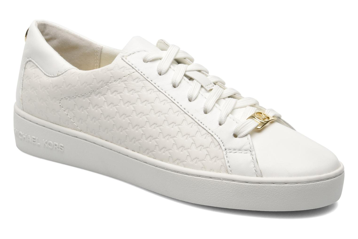 michael michael kors colby sneaker trainers in white at. Black Bedroom Furniture Sets. Home Design Ideas