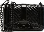 Rebecca Minkoff Patent Crinkled Mini Love Crossbody