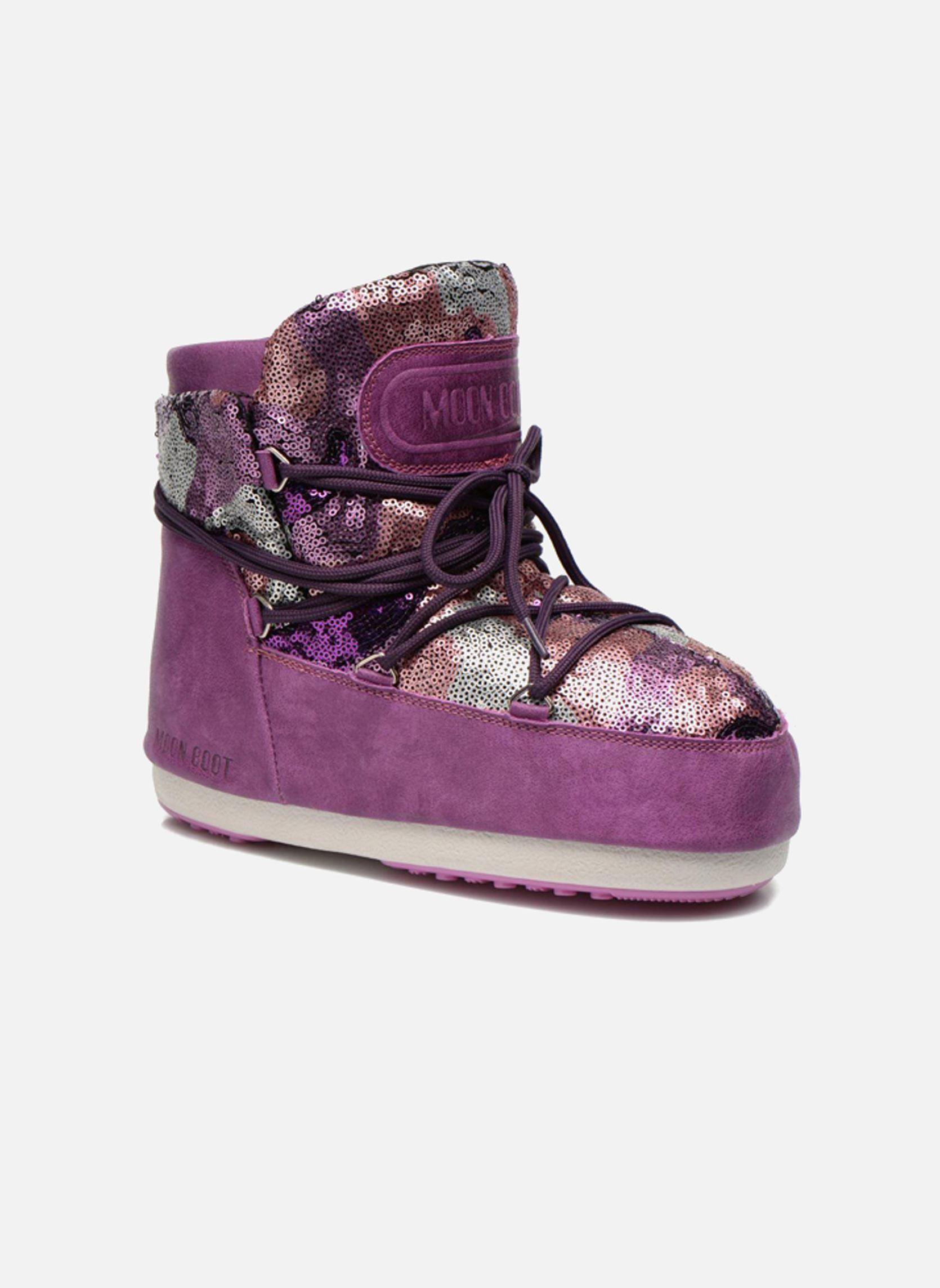 Moon Boot Buzz Paillettes Rosa Stiefeletten Amp Boots