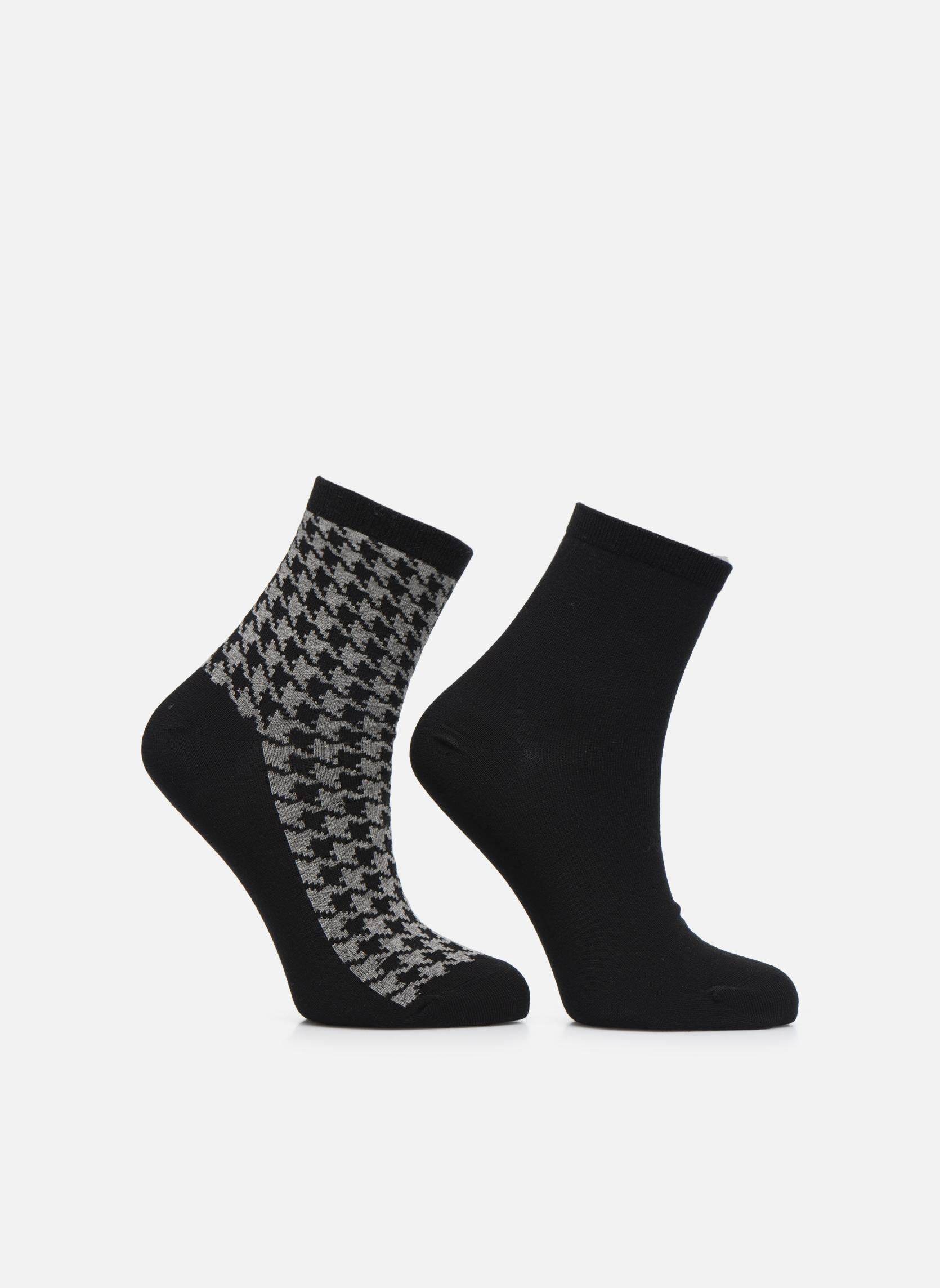 Sarenza Wear Chaussettes motif Pack de 2 femme coton