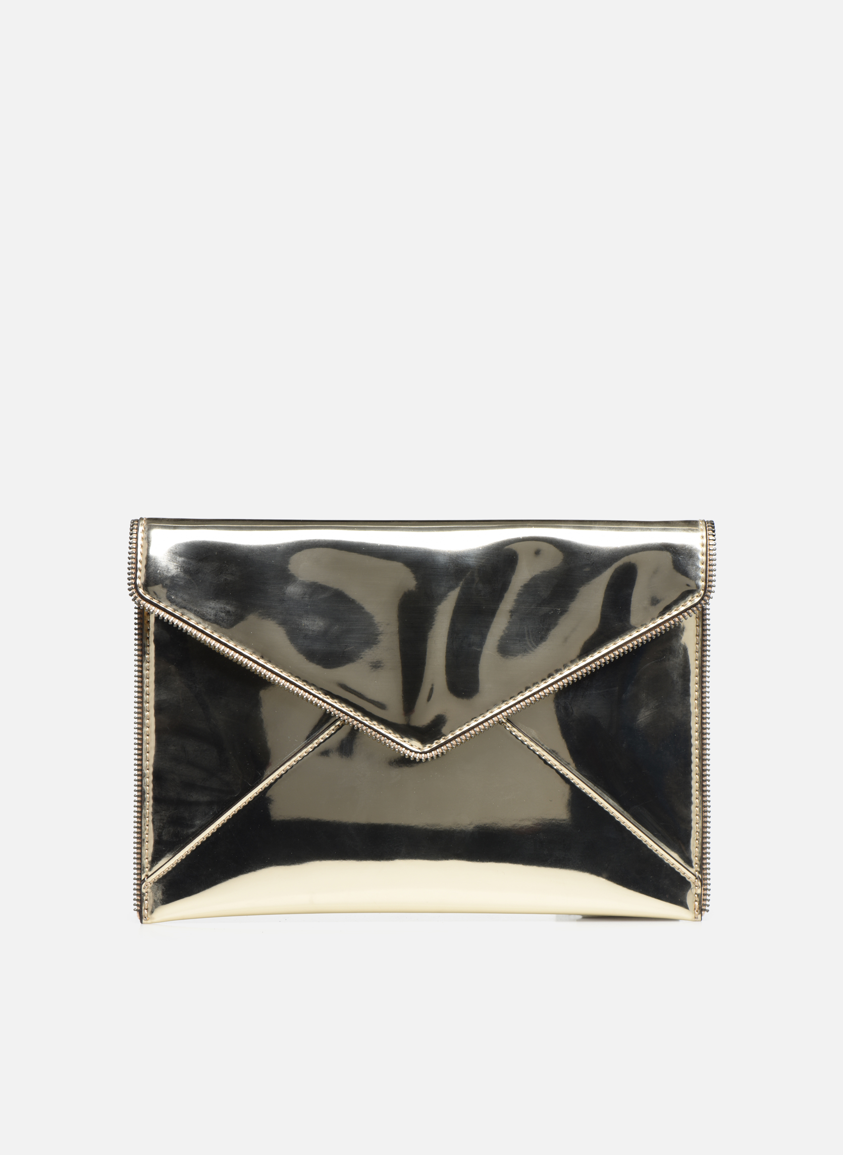 Rebecca Minkoff MIRRORED METALLIC LEO CLUTCH