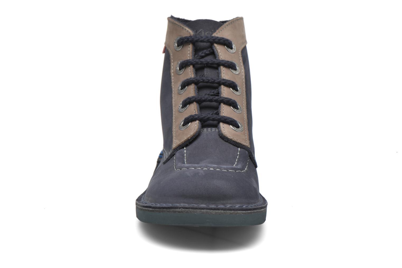 Snörade skor Kickers Kick Col Blå bild av skorna på