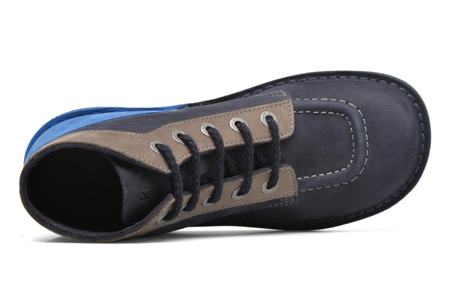 Veterschoenen Kickers Kick col Blauw links