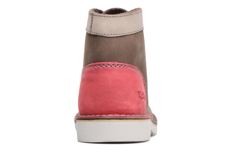 Chaussures à lacets Kickers Kick Col Marron vue droite