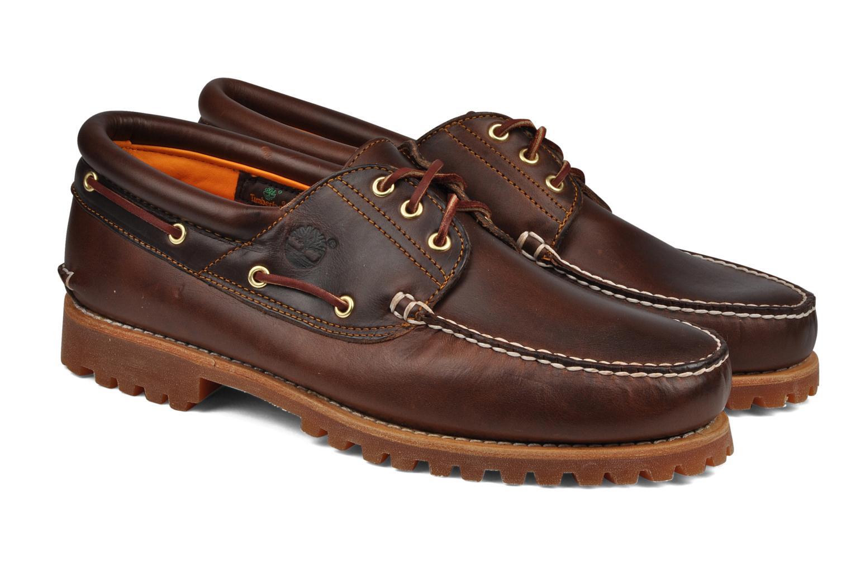 Chaussures à lacets Timberland Authentics FTM 3 Eye Classic Lug Marron vue 3/4