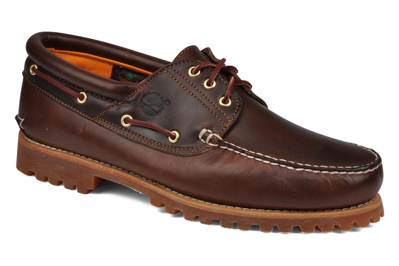 Chaussures à lacets Timberland Authentics FTM 3 Eye Classic Lug Marron vue détail/paire