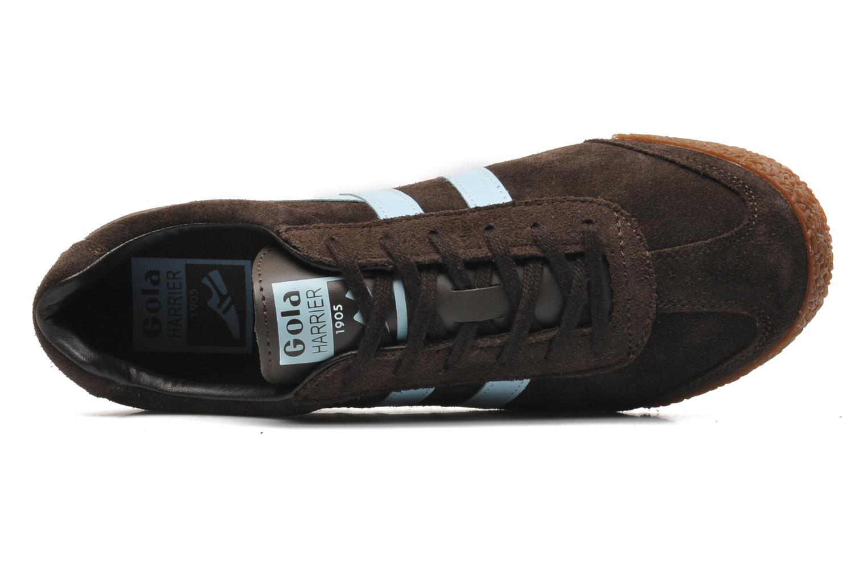 Sneaker Gola Harrier braun ansicht von links