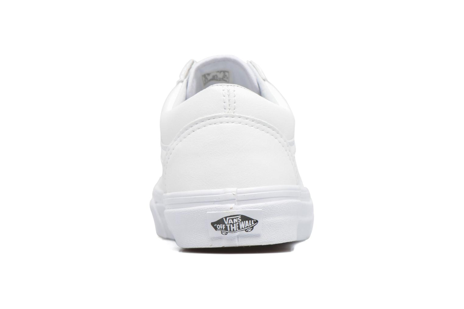 Trainers Vans Old Skool W White view from the right