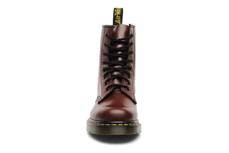 Bottines et boots Dr. Martens 1460 Smooth Rouge vue portées chaussures