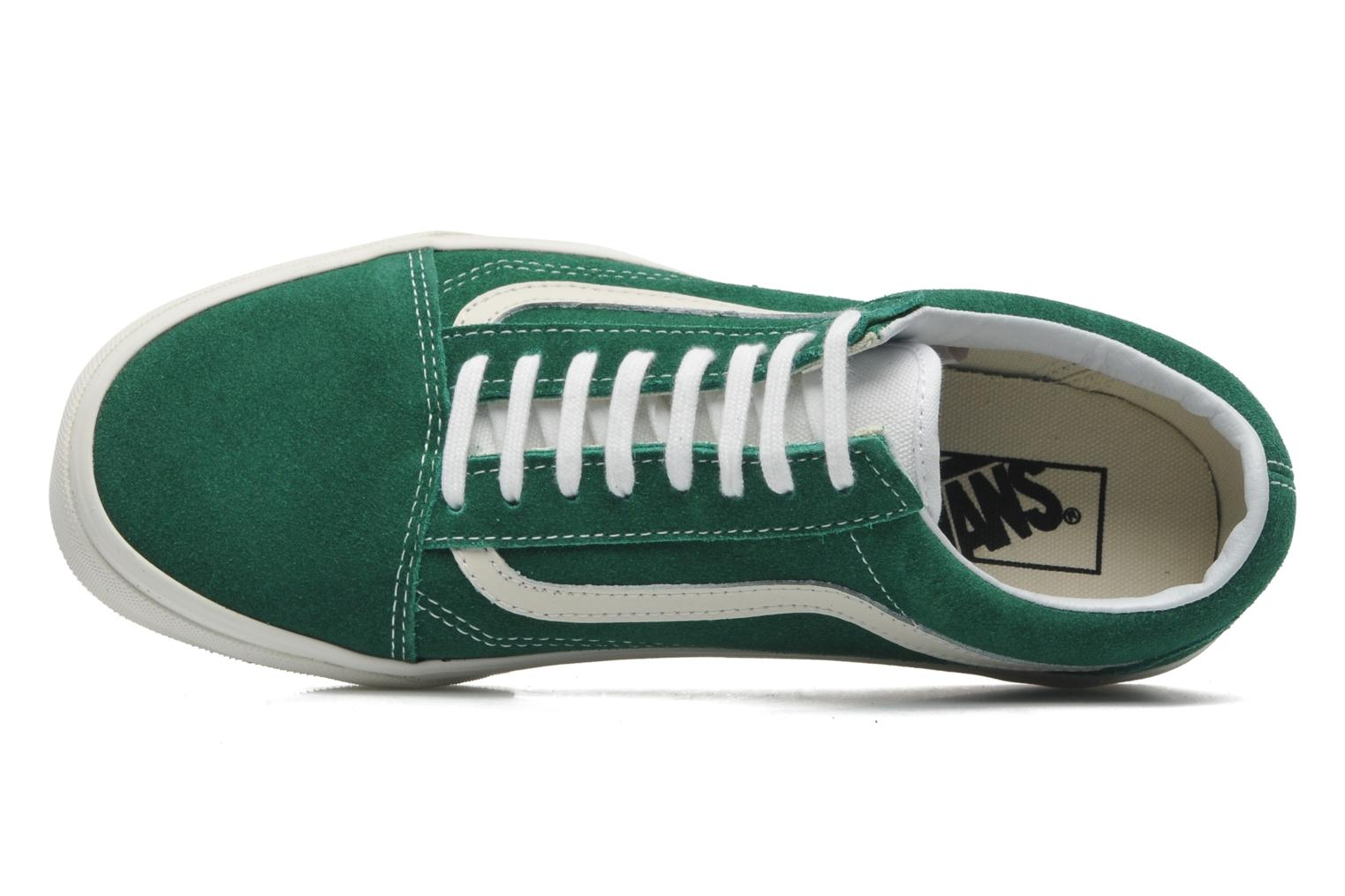 Trainers Vans Old Skool Green view from the left