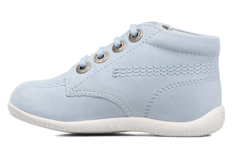 Zapatos con cordones Kickers Billy Azul vista de frente