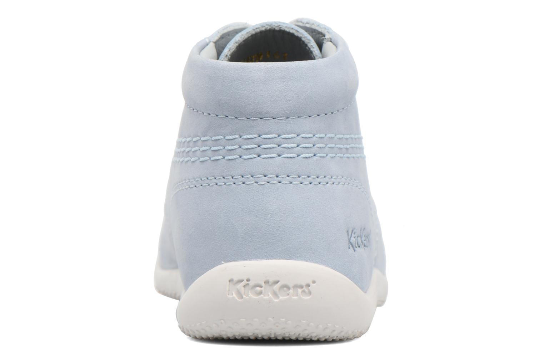 Chaussures à lacets Kickers Billy Bleu vue droite