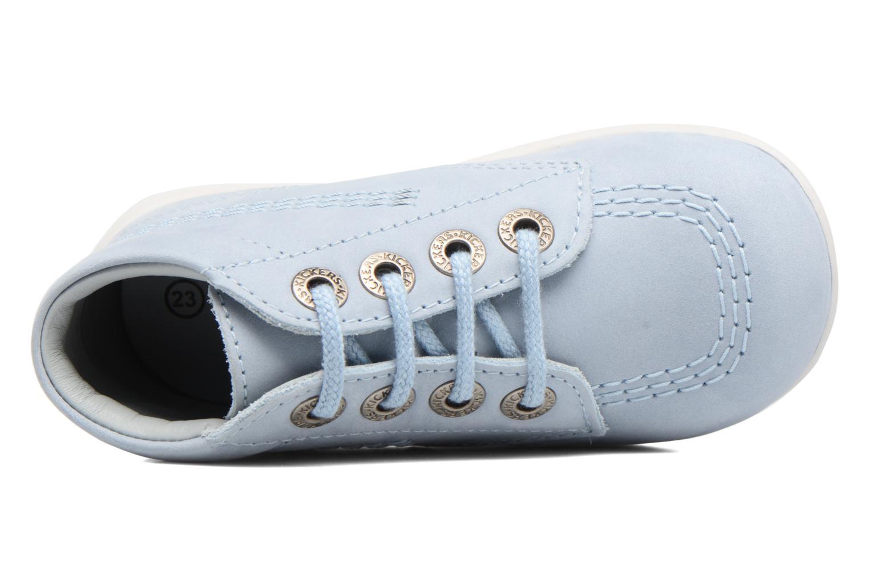 Zapatos con cordones Kickers Billy Azul vista lateral izquierda