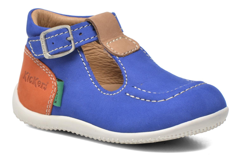 Sommersko Kickers Bonbek Blå detaljeret billede af skoene