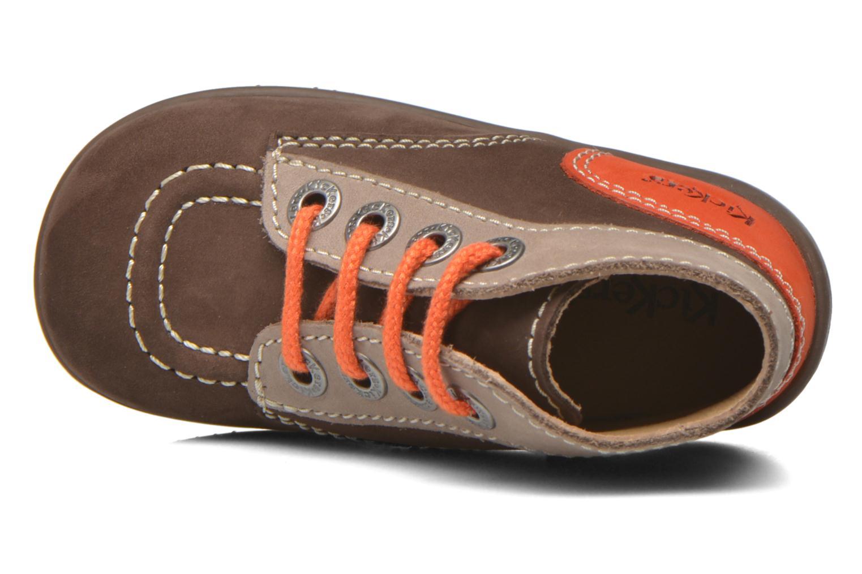 Bottines et boots Kickers Bonbon Marron vue gauche