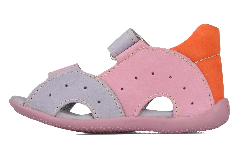Sandales et nu-pieds Kickers Boan Violet vue face