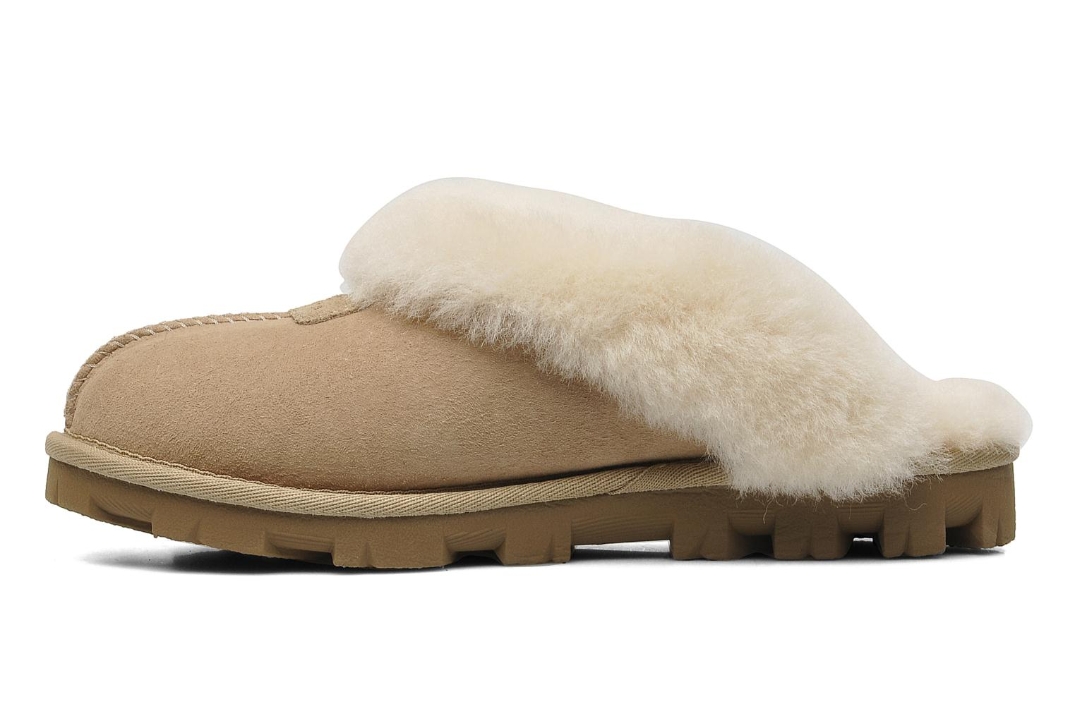 Chaussons UGG Coquette Beige vue face