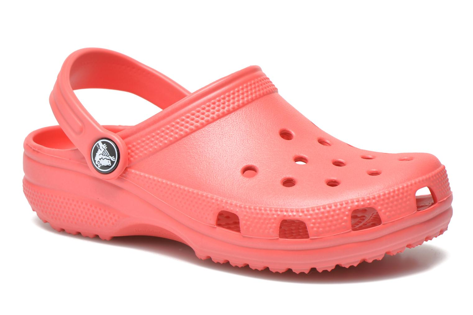 Sandals Crocs Kids Cayman Pink detailed view/ Pair view