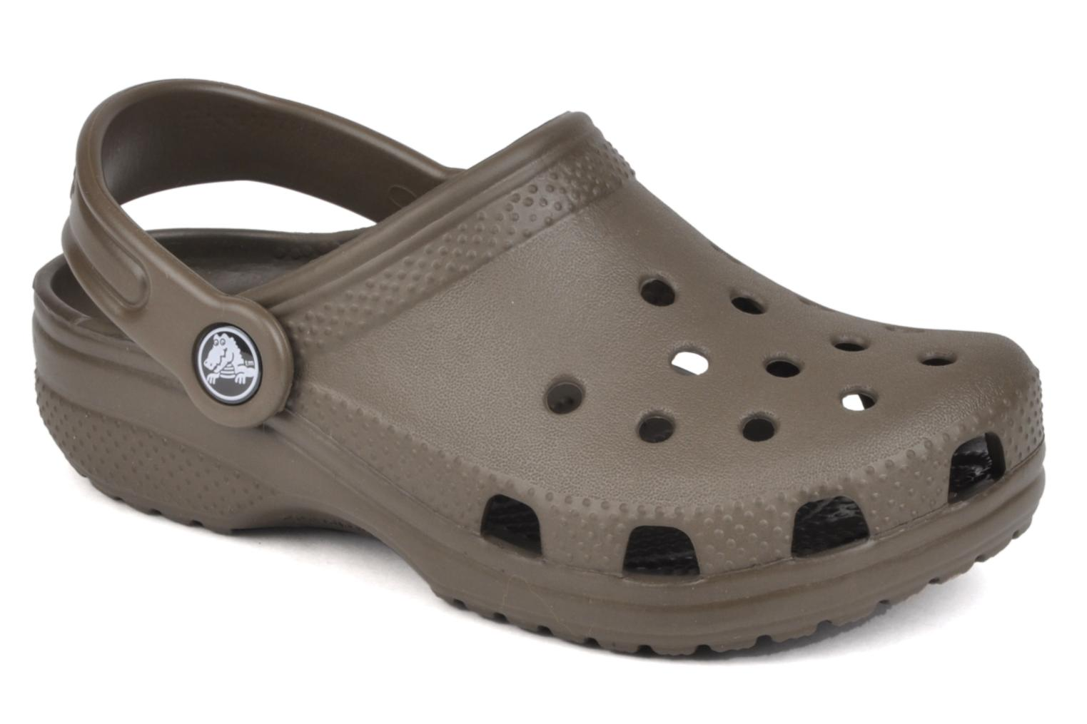 Sandals Crocs Kids Cayman Brown detailed view/ Pair view