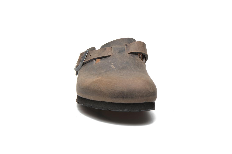 Sandales et nu-pieds Birkenstock Boston Cuir M Gris vue portées chaussures