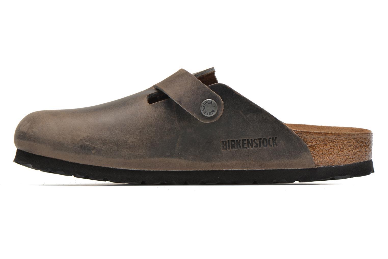 Sandales et nu-pieds Birkenstock Boston Cuir M Gris vue face