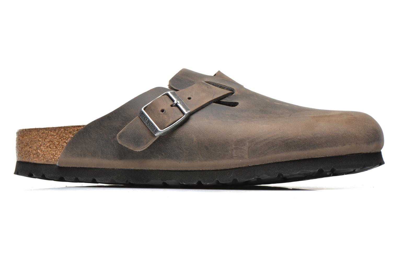 Sandales et nu-pieds Birkenstock Boston Cuir M Gris vue derrière