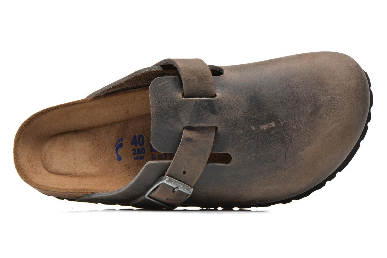 Sandales et nu-pieds Birkenstock Boston Cuir M Gris vue gauche